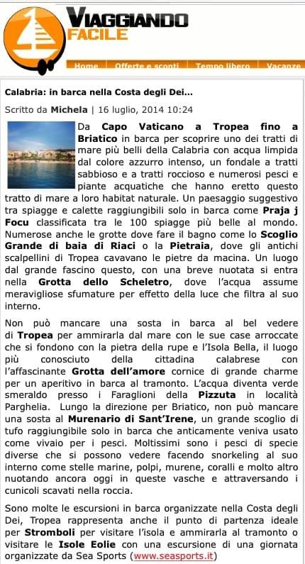 articolo sea sports estate 2014