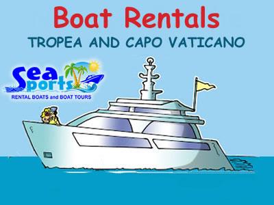 Boat rentals Tropea and Capo Vaticano
